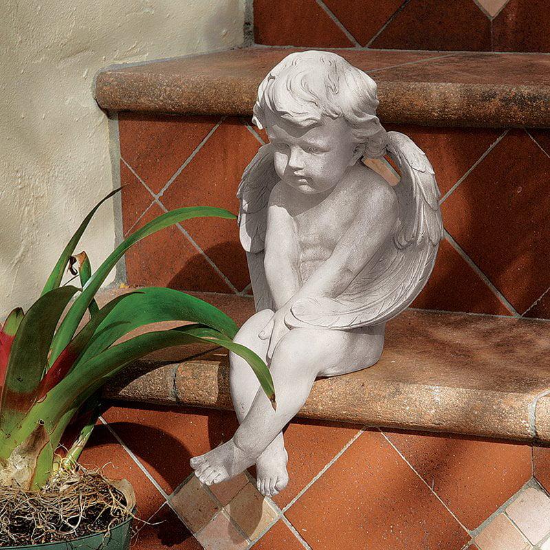 Angel Of Meditation Statue Design Toscano Angel's  Meditation  Contemplation