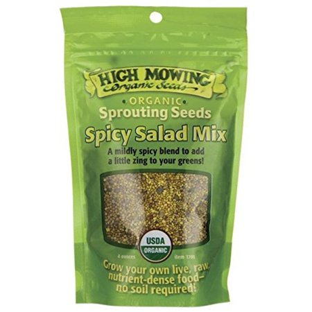 High Mowing Organic Seeds Sprouting Seeds Spicy Salad Mix 4 oz (Pkt Accent)