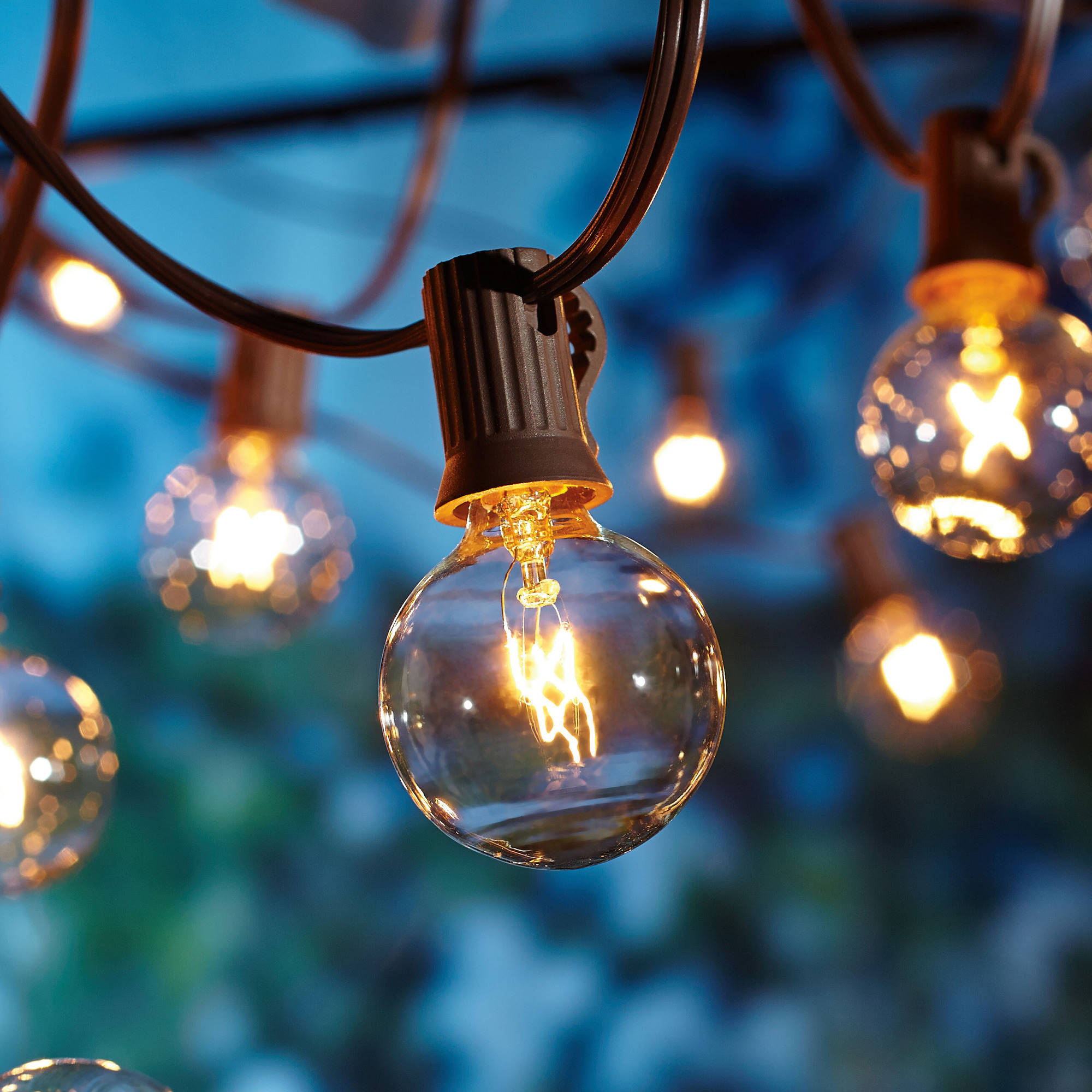 String Lights Houses : Better Homes and Gardens 20-Count Clear Glass Globe String Lights by SUN EAST ELECTRIC CO., LTD.