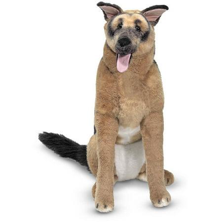 Shepherd Stuffed Dog (Melissa & Doug Giant German Shepherd, Lifelike Stuffed Animal Dog , over 2')