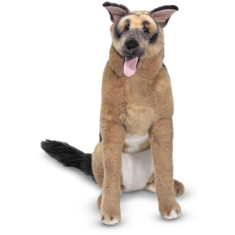 Melissa & Doug Giant German Shepherd, Lifelike Stuffed Animal Dog , over 2' tall