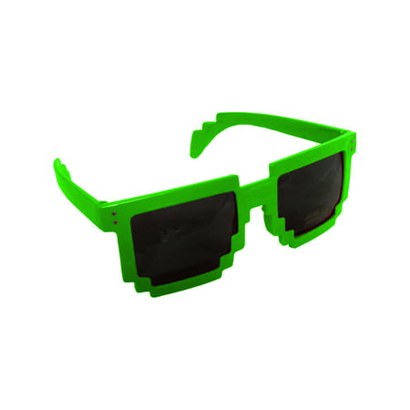 Green 80's 8-Bit Pixelated Videogame Pixels Sunglasses Costume Accessory](80's Accessories)