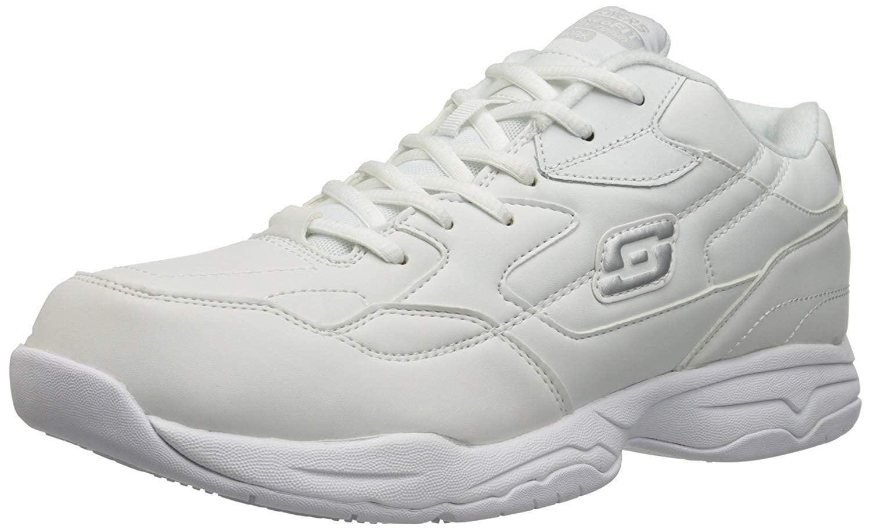Skechers for Work Mens Felton Slip Resistant Relaxed-Fit Work Shoe