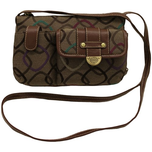 George Women's Mini Handbag, Latte Multi-Color