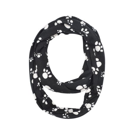Scarf Dog Clothing - Premium Dog Paw Print Infinity Loop Circle Scarf