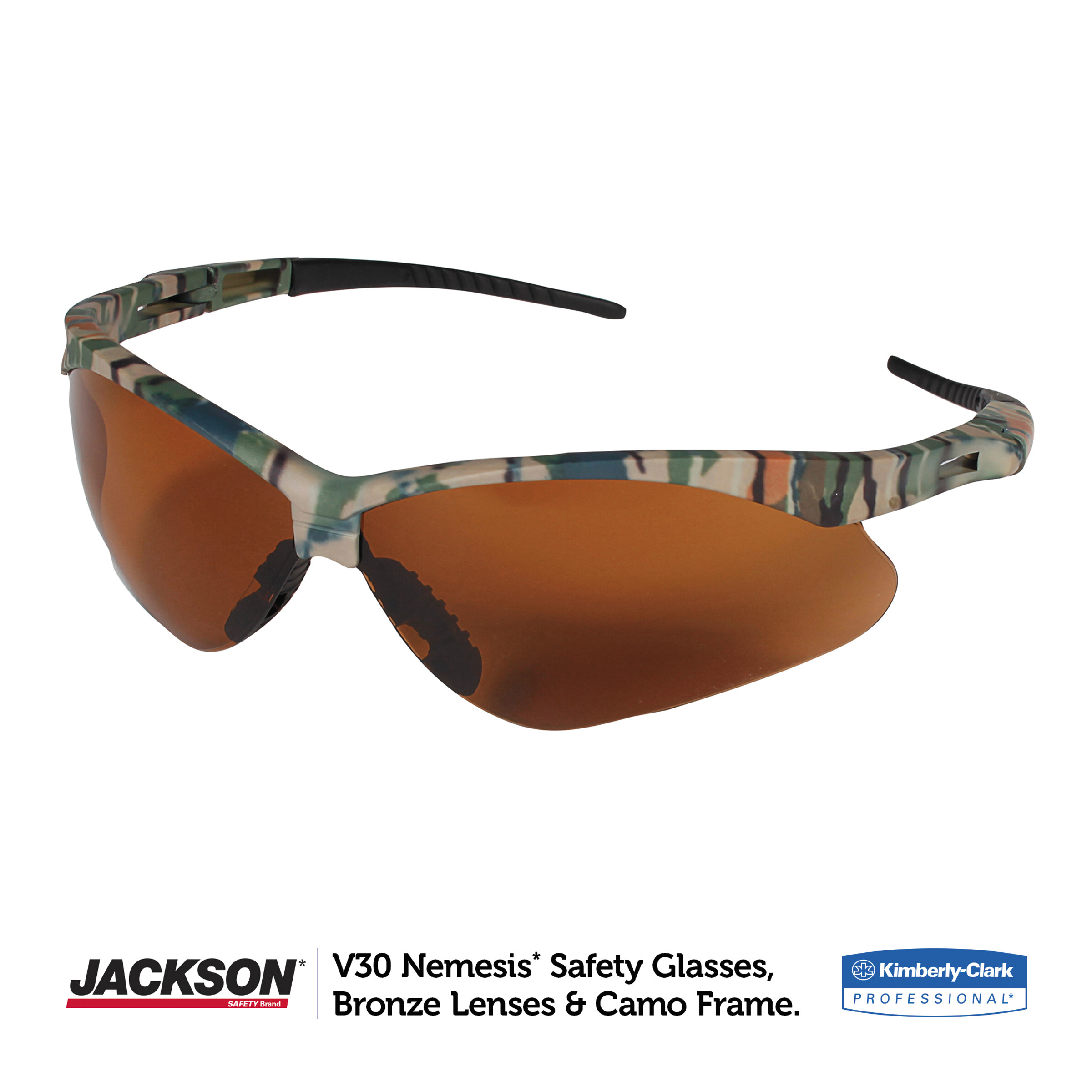 JACKSON SAFETY 19644 V30 Nemesis Safety Glasses With Brown Scratch-Resistant