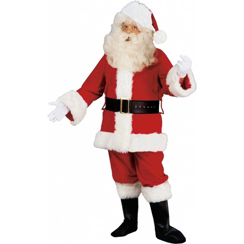 Deluxe Velvet Santa Claus Suit Adult Costume
