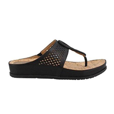 bd3cfffc8b2 BareTraps - Bare Traps Womens Chinda Open Toe Casual T-Strap Sandals -  Walmart.com