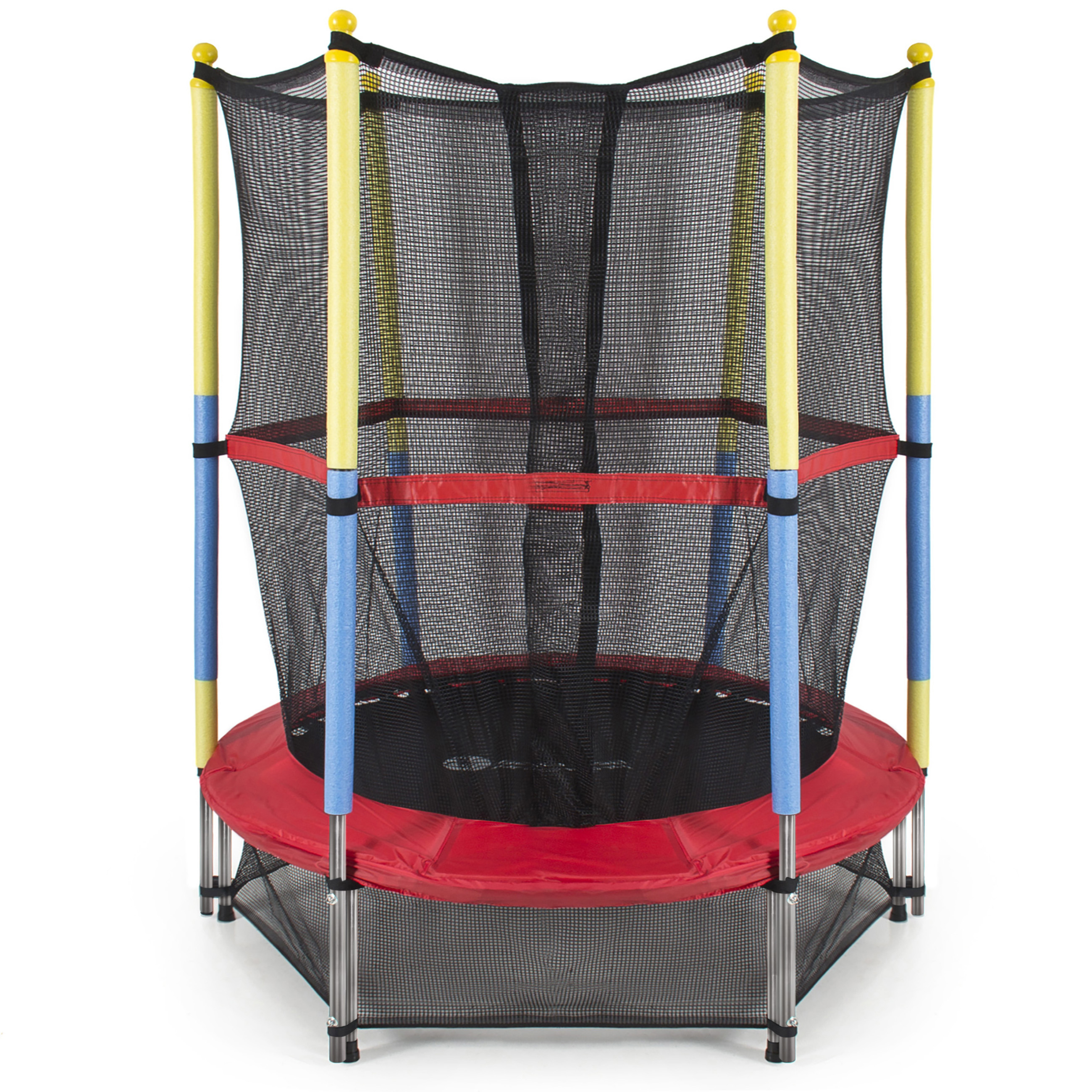 Best Choice Products 55-Inch Mini Trampoline, with Safety Enclosure, Red by