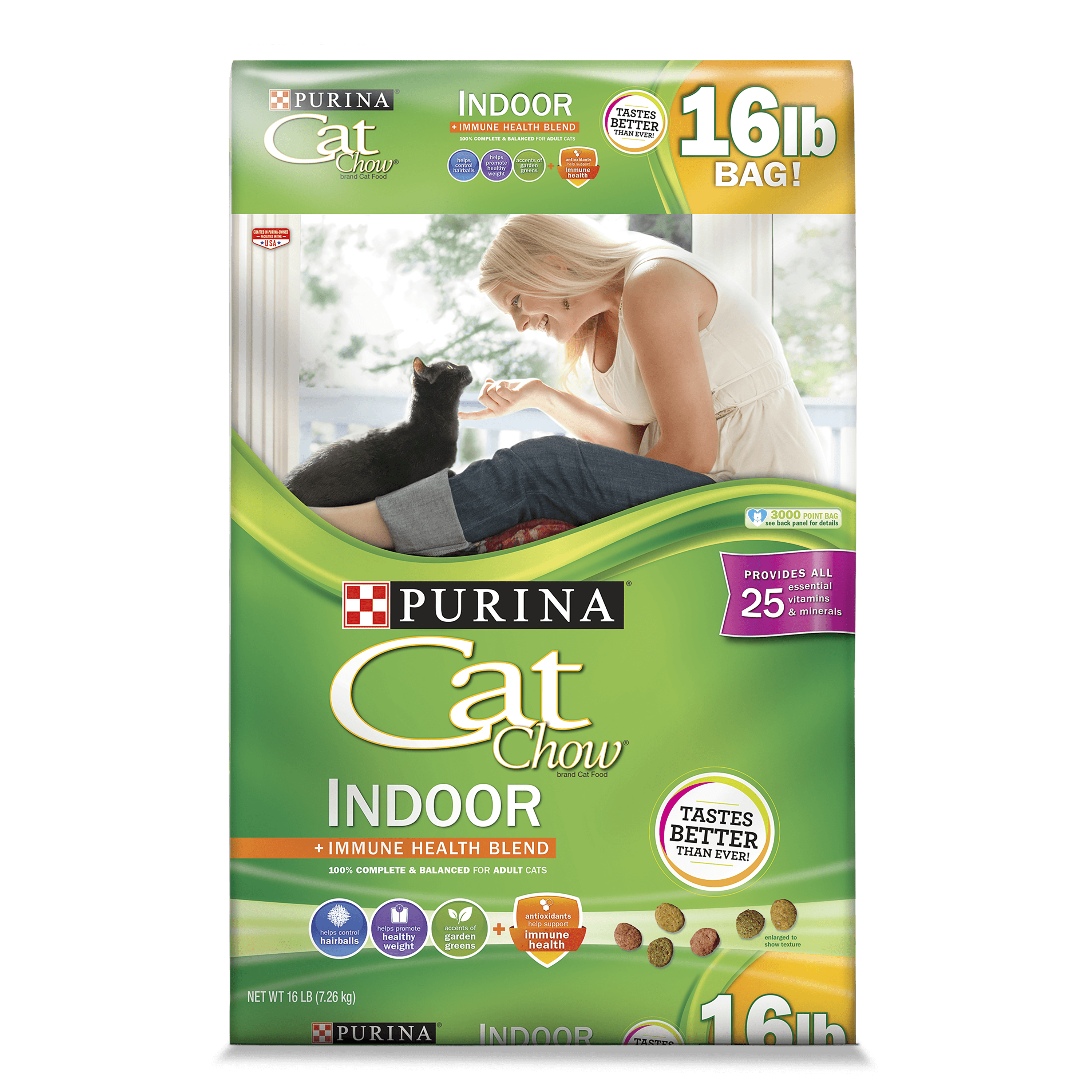 Purina Cat Chow Indoor Adult Dry Cat Food, 16 Lb