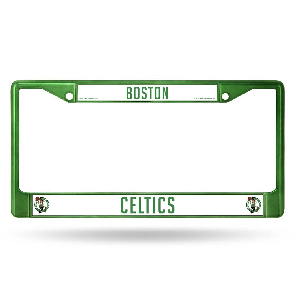 Boston Celtics Metal License Plate Frame - Green