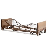 Invacare - Full-Electric Low Homecare Bed with Innerspring Mattress and Full-length Rails
