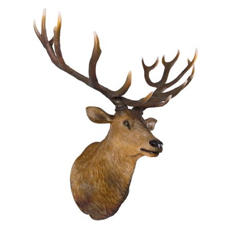 - Big Antler Buck Trophy Deer Head Wall Sculpture
