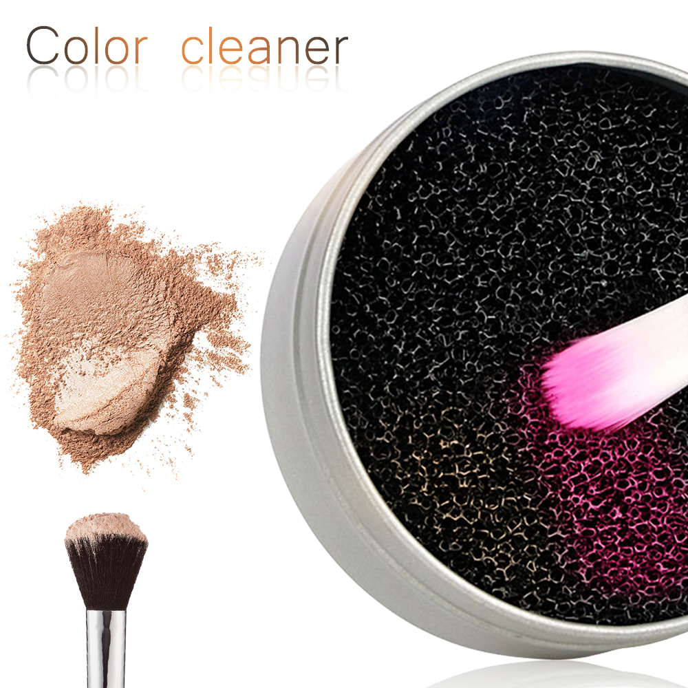 Pinkiou Eyeshadow Makeup Brush Cleaner Sponge Switch Remove Color from Makeup Brushes