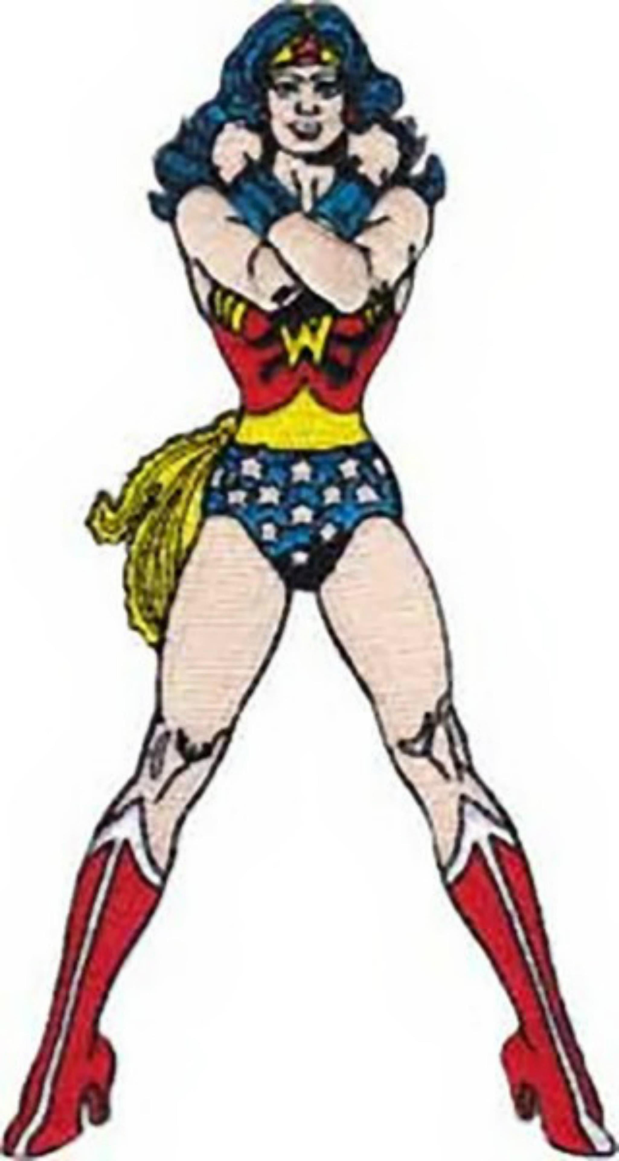 """DC Comics Wonder Woman Set Of Three Embroidered 3/"""" Tall Patches"""