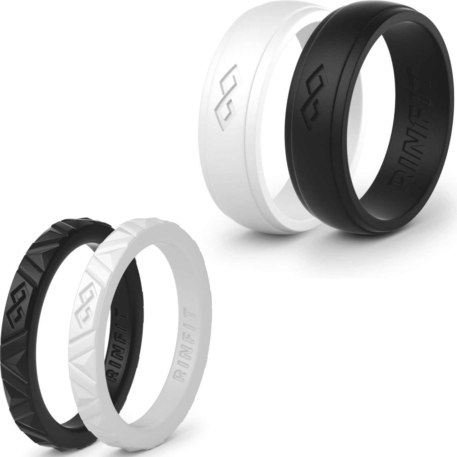 Rinfit Silicone Wedding Rings Wedding Bands Rubber 4