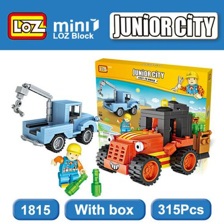 LOZ Junior City Crane & Forklift Kids Puzzle Mini Block Brick Toy w/Box