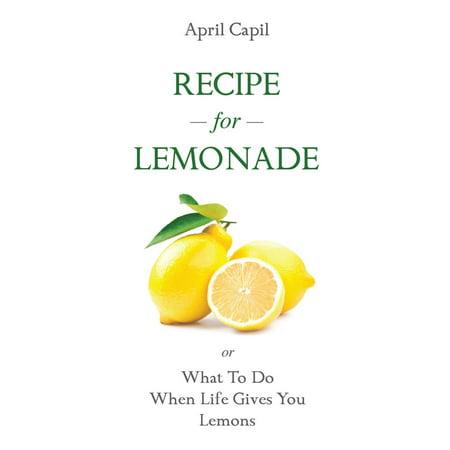 Recipe For Lemonade - eBook - Lemonade Punch Recipe