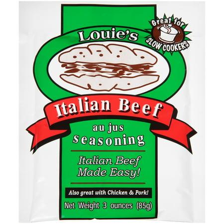 (2 Pack) Louie's Italian Beef Au Jus Seasoning (Best Seasoning For Ground Beef In Spaghetti)