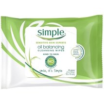 Facial Cleansing Wipes: Simple Kind to Skin Oil Balancing Wipes