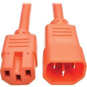 Tripp Lite P018 006 AOR Heavy Duty Computer Power Cord, 15A, 14 AWG (IEC 320 C14 to IEC 320 C15), Orange, 6 ft.
