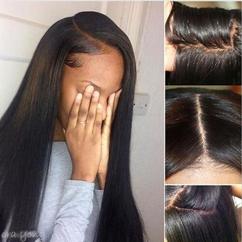 100 7a Brazilian Virgin Full Lace Human Hair Wigs Glueless Full