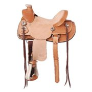 "Silver Royal Wylie 12"" Youth Wade Saddle 401 12inch, Light Oil"