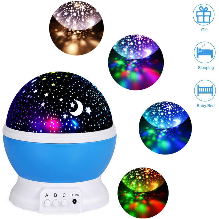 Night Lights for Kids, Multi Colors Star Projector for Kids and Baby Bedroom, Best Night Light to Stimulate Kids Plenty of Imagination (Blue)