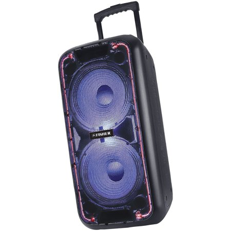 Fisher FBX2109 Double Bass DJ Speaker System , Dual 10-Inch Woofers, Bluetooth
