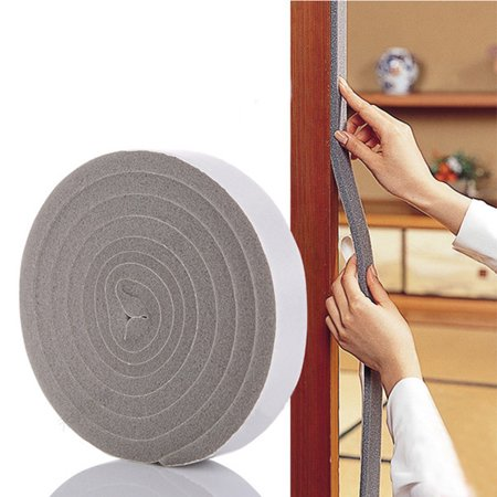- Tuscom Door Window Foam Sticky Tape Strip Seal Noise Insulation Excluder Tape Roll B