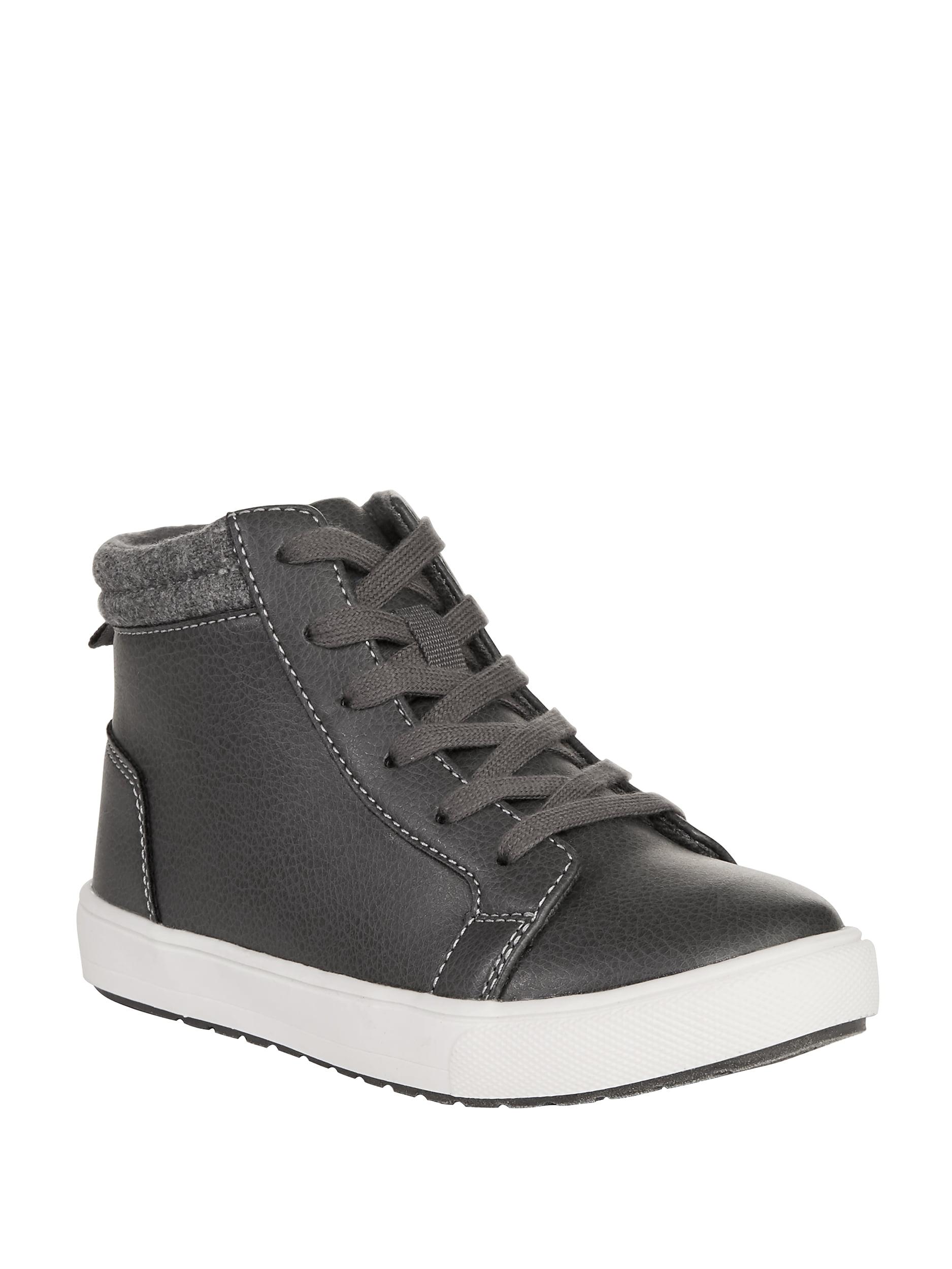 Black Size 1 M US Kids Kids Polo Ralph Lauren Boys Chett Leather Hight Top