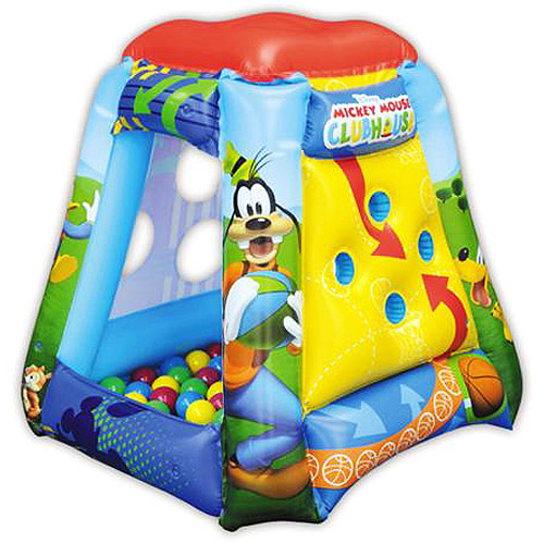Disney  Mickey Mouse Clubhouse Playland Ball Pit with 20 Soft Flex Balls  sc 1 st  Walmart & Disney
