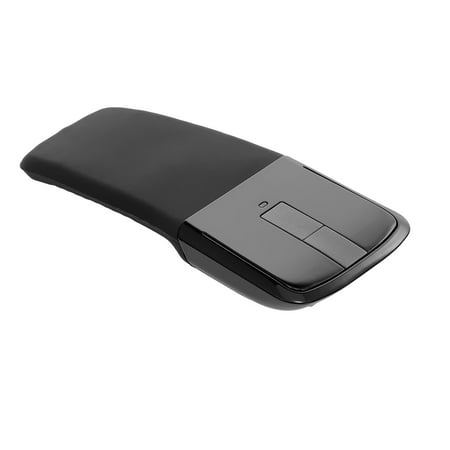 2.4G Wireless Mouse with USB Arc Mouse with Touch Function Folding Optical Mice with USB Receiver Bending Mouse for PC Laptop(Black) - image 6 of 7