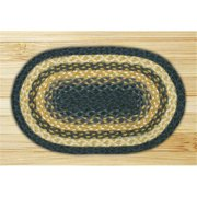 Earth Rugs 47-079 Rectangle Swatch - Light Blue, Dark Blue and Mustard
