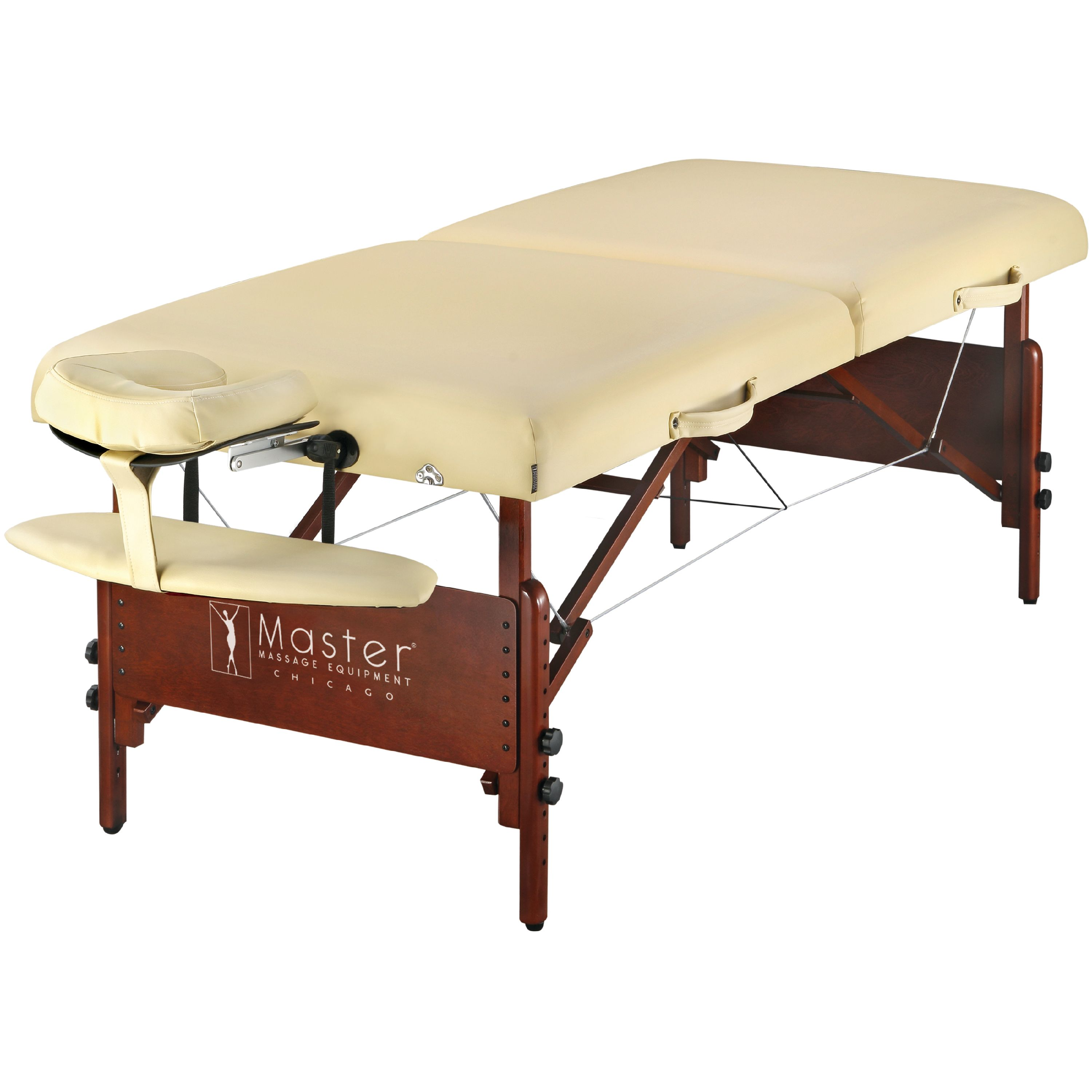 """Master Massage 30"""" Del Ray Professional Portable Massage Table Package, Cream"""