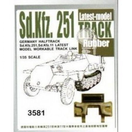 Sdkfz 251 Halftrack Workable Rubber Track Links Latest Type 1 35 Afv Club