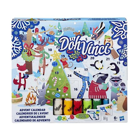Play-Doh Doh Vinci Advent Calendar – Fun Countdown to Christmas, Design and Display in 3D (Christmas Advent Calendar)