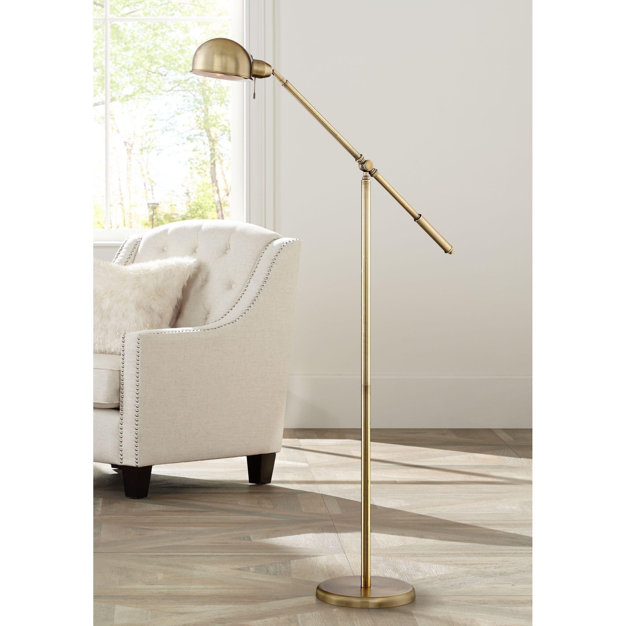 360 Lighting Dawson Antique Brass Pharmacy Floor Lamp by 360 Lighting
