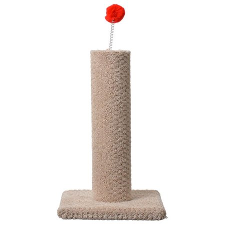 Classy Kitty Carpeted Cat Post With Spring Toy - 16