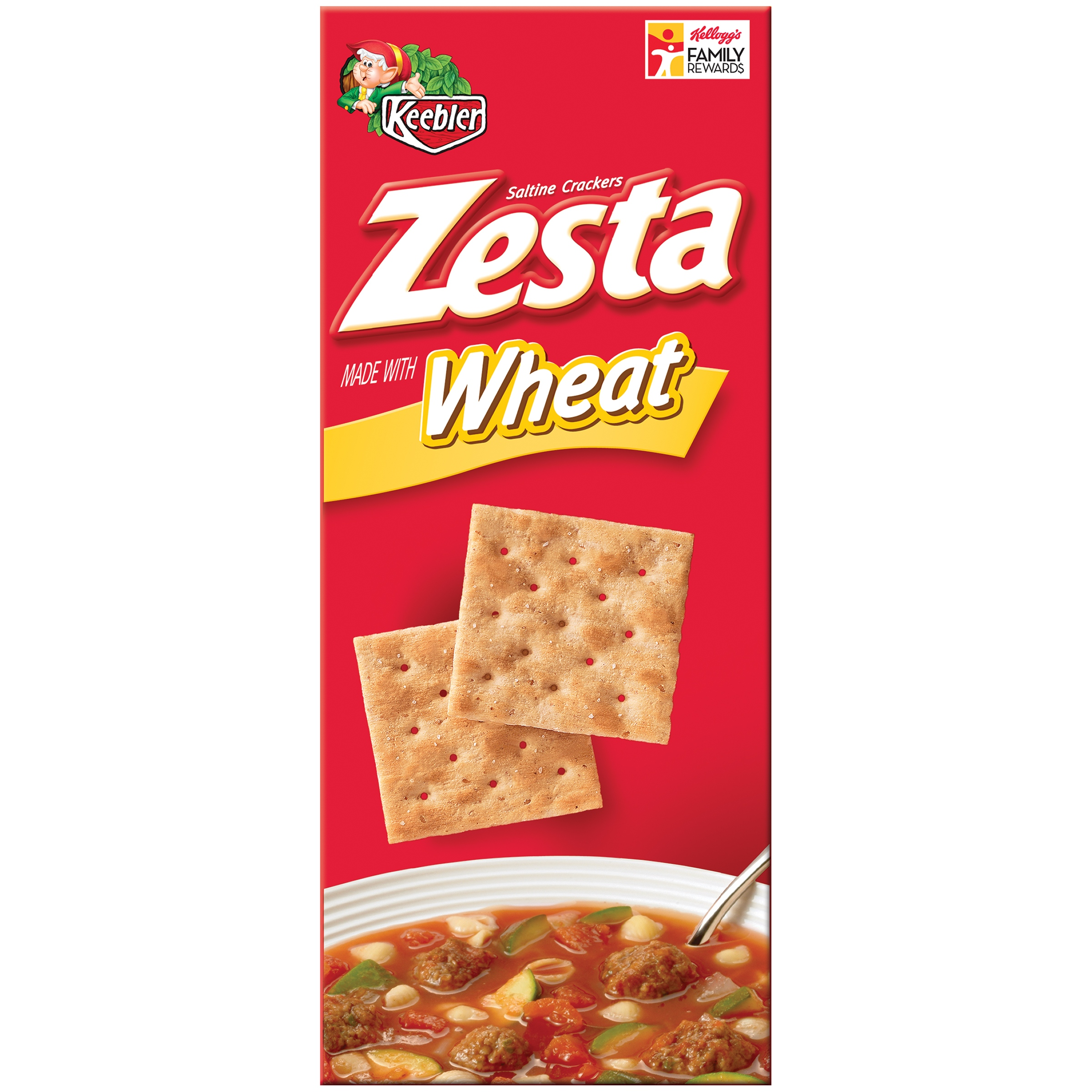 Keebler Zesta Whole Wheat Saltine Crackers, 16 ounce
