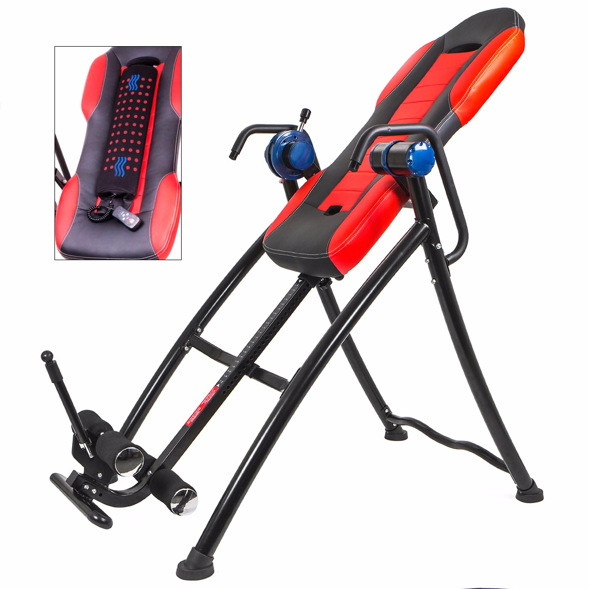 XtremepowerUS Chiropractic Gravity Inversion Therapy Table Fitness, with Cushion