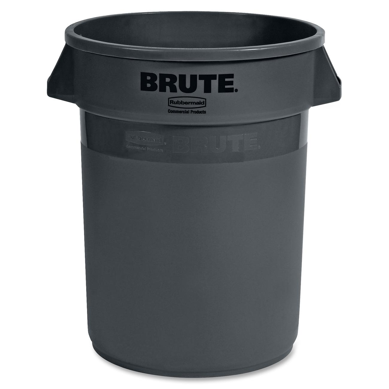 Rubbermaid Commercial FG263200GRAY Brute Heavy-Duty Round Container 32-gallon, Gray