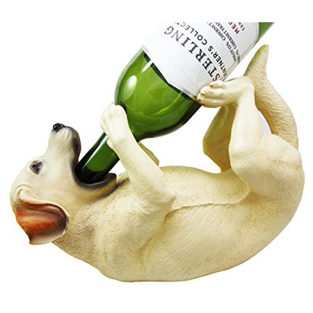 Black Labrador Retriever Figurine - Atlantic Collectibles Labrador Retriever Canine Dog 10.5