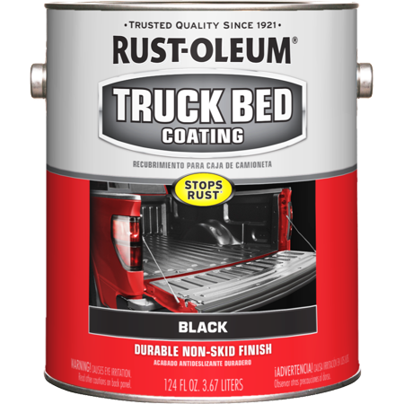 Rust-Oleum Stops Rust Truck Bed Coating Matte Black, Gallon