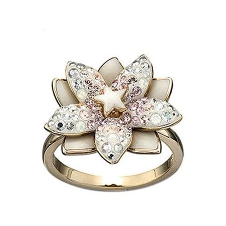 LOUELLA Gold Plated Flower RING (Large/58/8) (Plated Flower Shape)