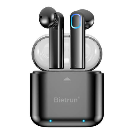 Upgraded Bluetooth 5.0 Wireless Earbuds, Bietrun Bluetooth Headphones Earpiece with Deep Bass HiFi 3D Stereo Sound, Built-in Mic Earphones Headset with Portable Charging Case, Black Friday Deal