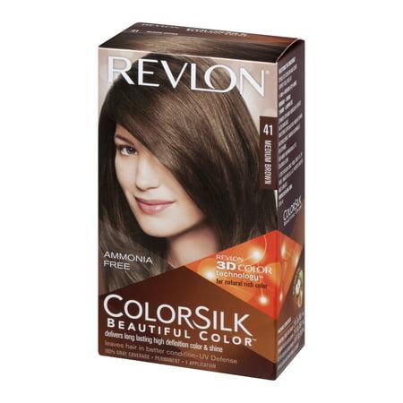 Revlon Colorsilk Beautiful Color Permanent 41 Medium Brown 10 Kit