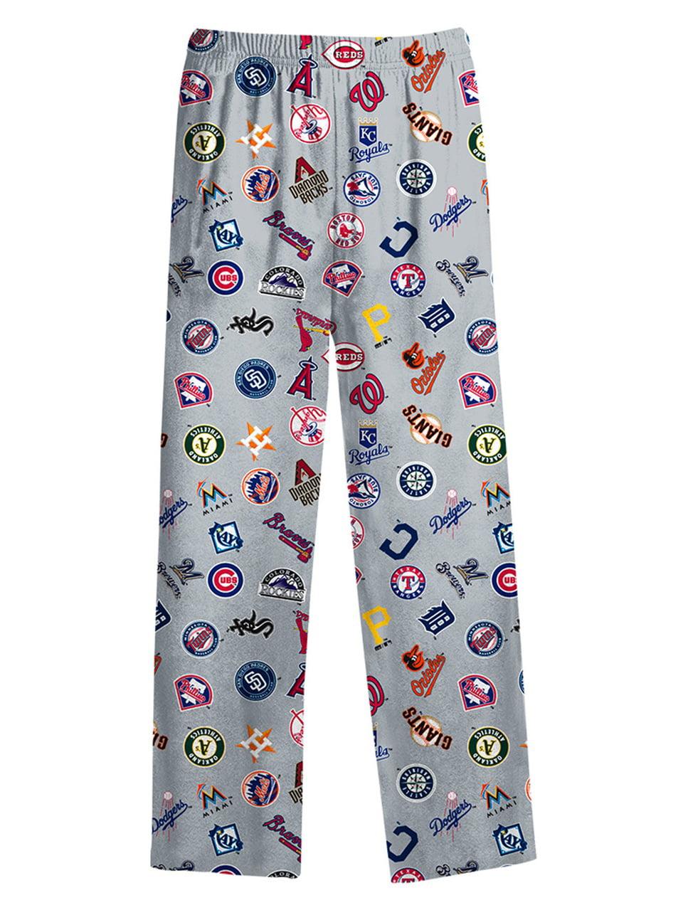 Major League Baseball Kid's All Over Printed Pants Gray by Genuine Stuff