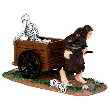 Lemax 42201 BRING OUT YOUR DEAD Spooky Town Figurine Retired Halloween Decor - Lemax Halloween Train