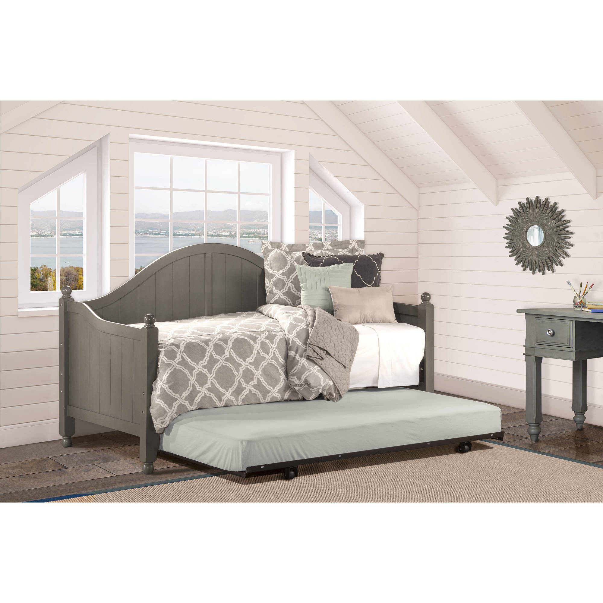 Hillsdale Furniture Augusta Day Bed with Trundle, Stone by Hillsdale